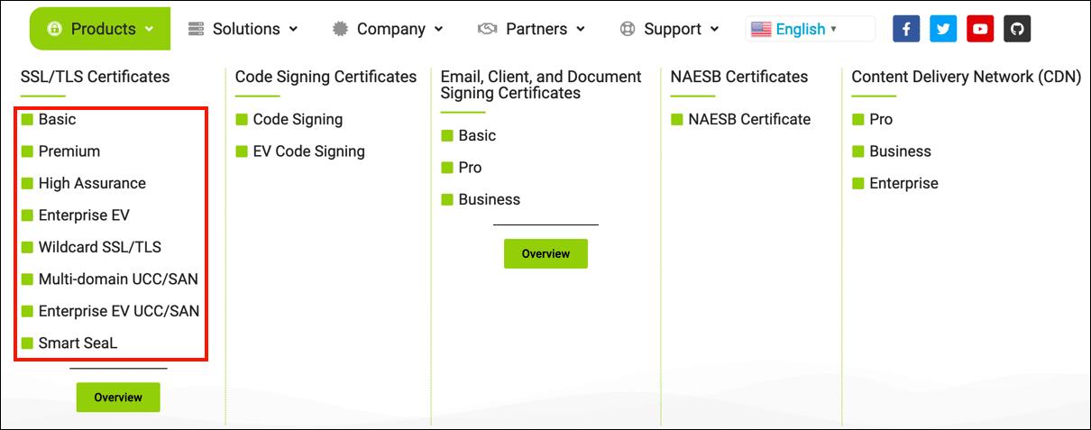 choose a certificate type