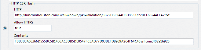 HTTP CSR Hash