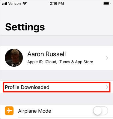 Profile Downloaded