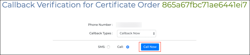 Callback form