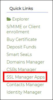 highlight SSL Manager Apps