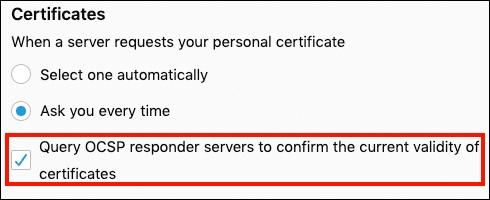 Query OCSP responder servers
