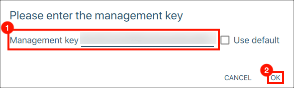 Enter Management Key