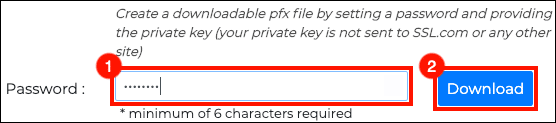 Create password for PFX