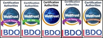 WebTrust Seals