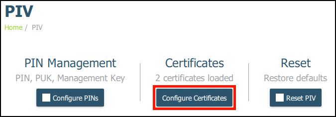 Configure Certificates