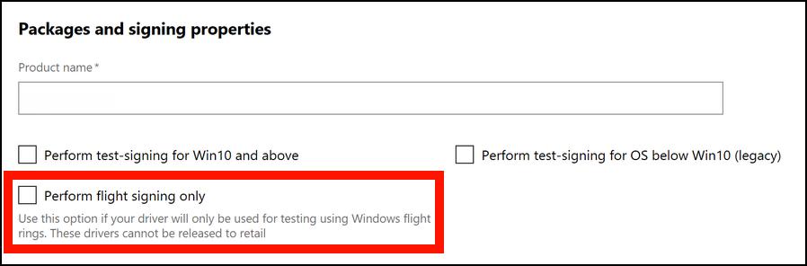 Flight signing option