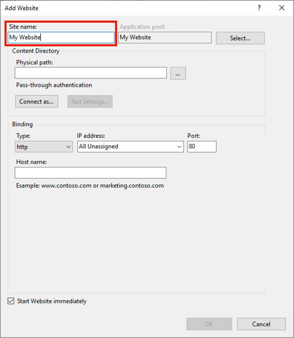 Új webhely létrehozása a Windows IIS 10 rendszerben - mi-lenne.hu