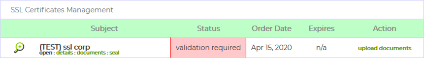Validation Required