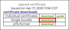 single bundle download link