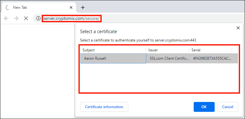 confirm certificate availability