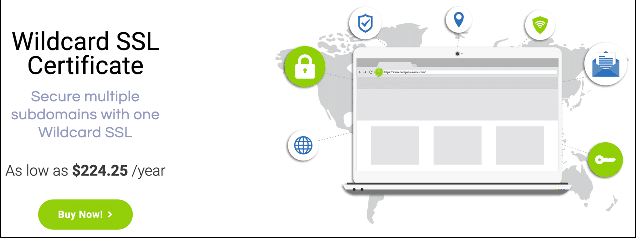 Wildcard SSL product page