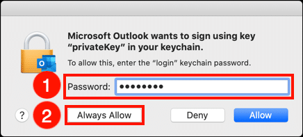 Give OS permission to use private key