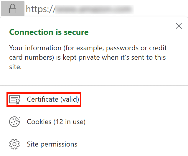 OV certificate in Google Chrome