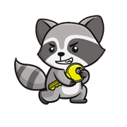 Raccoon Attack Logo