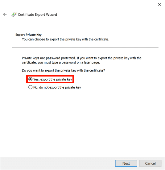 Yes, export the private key