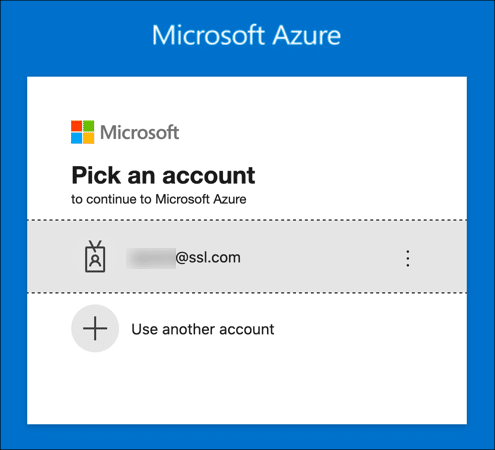 Sign into Azure