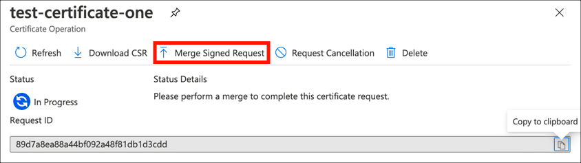 Merge Signed Request