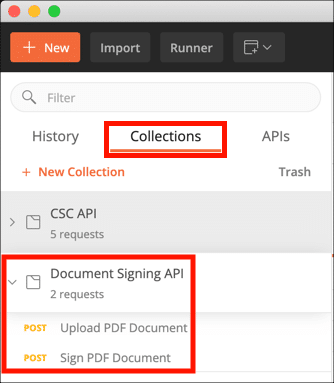 Document Signing API Collection