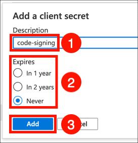 Add client secret
