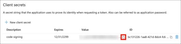 copy secret value