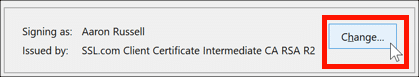 change certificate