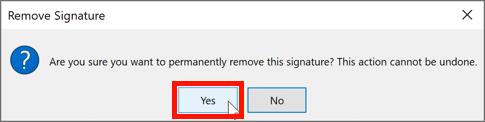 Remove signature
