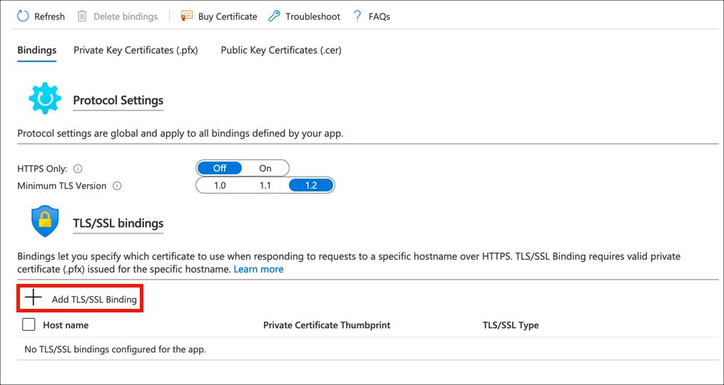 Add TLS/SSL Binding