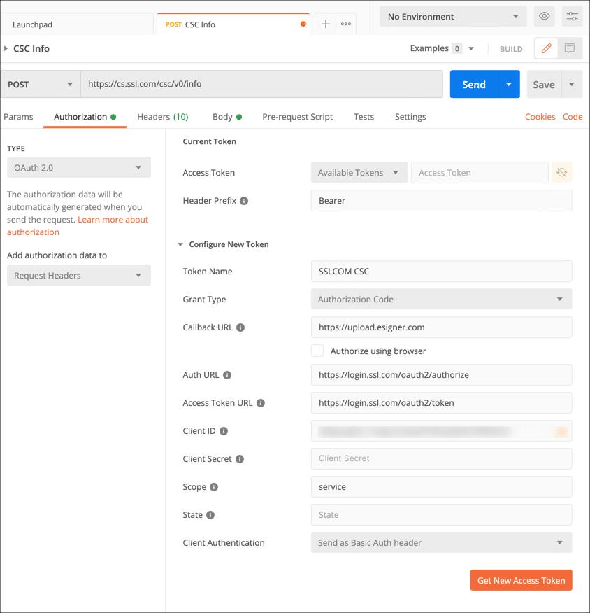 Get New Access Token
