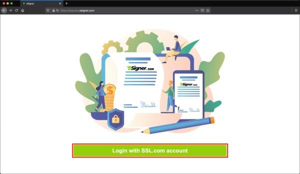 Login with SSL.com account