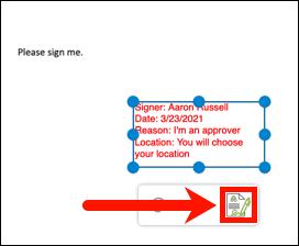 Send digital signature