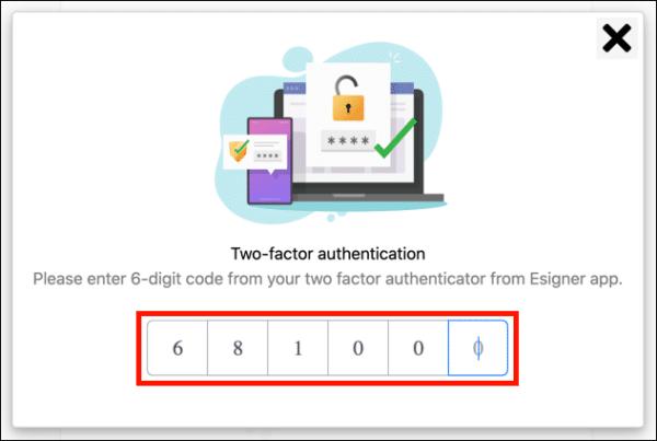 Enter 2FA code