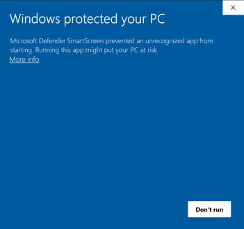 SmartScreen Warning