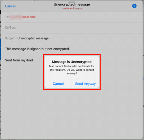 message unencrypted